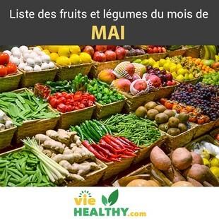 Liste fruits legumes mai